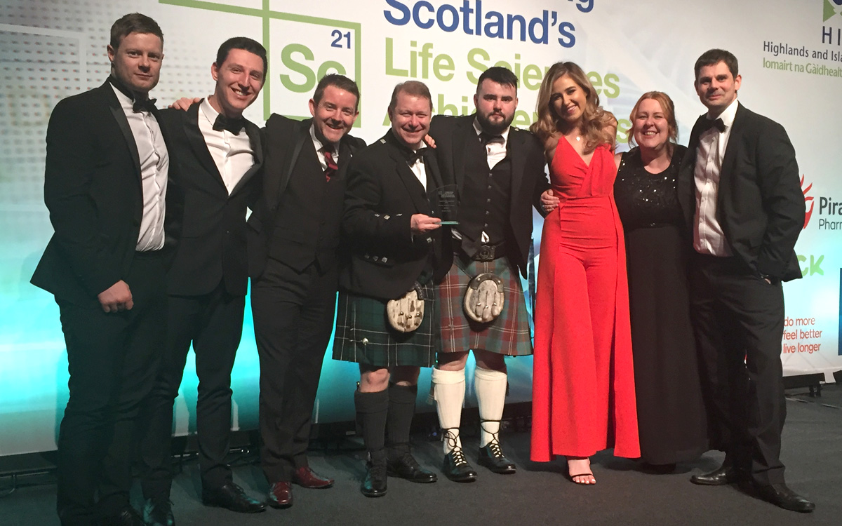 The FlexMedical team won the Rising Star: High Growth Company Award at Scotland's Life Sciences Dinner and Annual Awards.